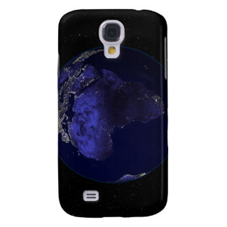 Full Earth at night showing Africa and Europe Galaxy S4 Case