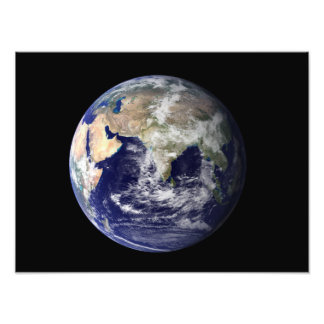 Full Earth showing Europe and Asia 2 Photo Art
