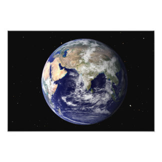 Full Earth showing Europe and Asia Photo Print
