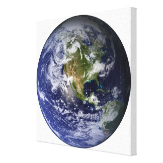 Full Earth showing North America 2 Canvas Print