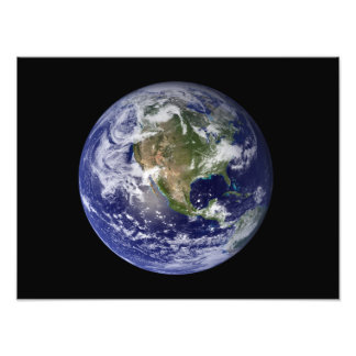 Full Earth showing North America 3 Photo Art