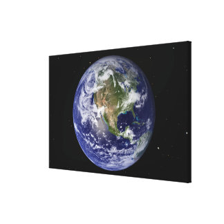 Full Earth showing North America 4 Canvas Prints