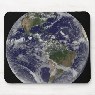 Full Earth showing North America and South Amer Mouse Mat