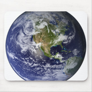 Full Earth showing North America Mouse Mat