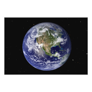 Full Earth showing North America Photo Art