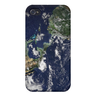 Full Earth showing North and South America iPhone 4/4S Cases