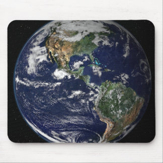 Full Earth showing North and South America Mouse Pad