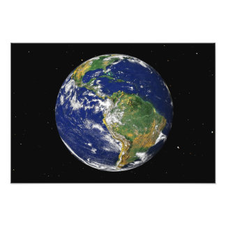 Full Earth showing South America Photo Art