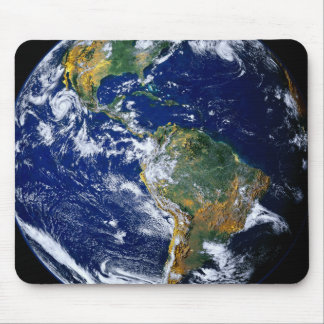 Full Earth Showing The Americas Mouse Mat