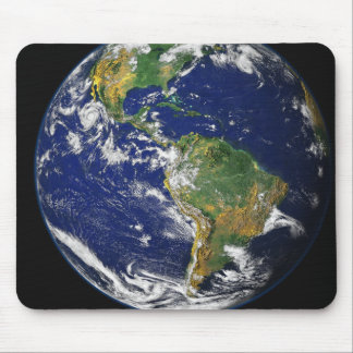 Full Earth showing the western hemisphere Mouse Pads