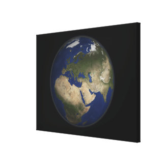 Full Earth view of Africa, Europe, and Middle E Canvas Print