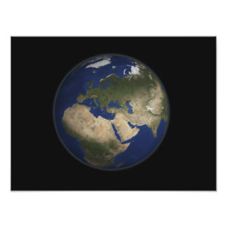 Full Earth view of Africa, Europe, and Middle E Photo Art