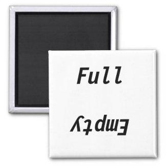 Full Empty refrigerator Square Magnet