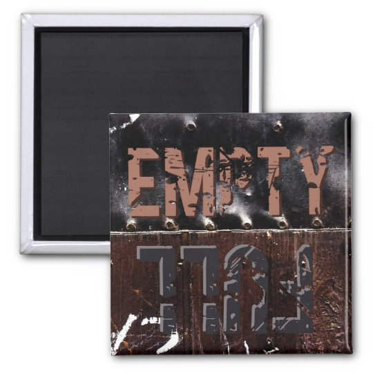 Full Empty Sign Square Magnet