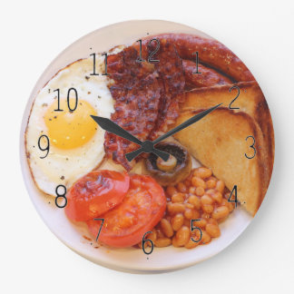 Full English breakfast novelty clock