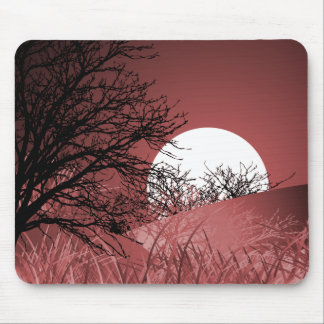 FULL FIELD MOON - RED MOUSE MAT