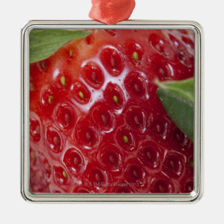 Full frame close-up of a Strawberry Christmas Ornament