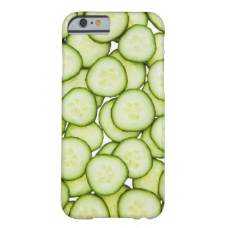 Full frame of sliced cucumber, on white barely there iPhone 6 case