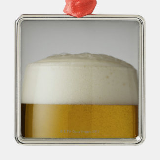 Full glass of beer indoors christmas ornament