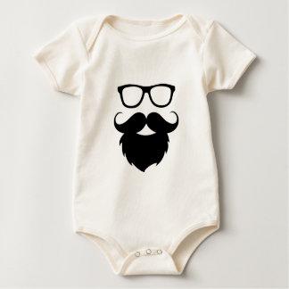 Full Grown Funny Beard Man Baby Bodysuit