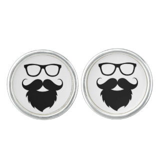 Full Grown Funny Beard Man Cufflinks