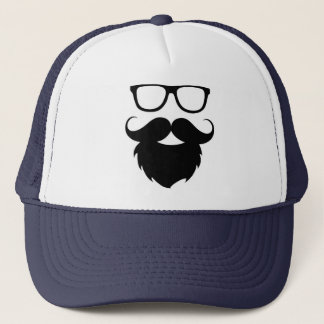 Full Grown Funny Beard Man Trucker Hat