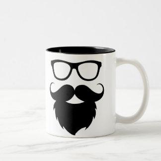 Full Grown Funny Beard Man Two-Tone Mug