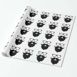 Full Grown Funny Beard Man Wrapping Paper