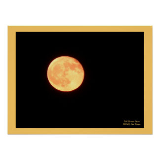 Full Harvest Moon Poster