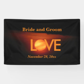 Full Harvest Moon Wedding Banner