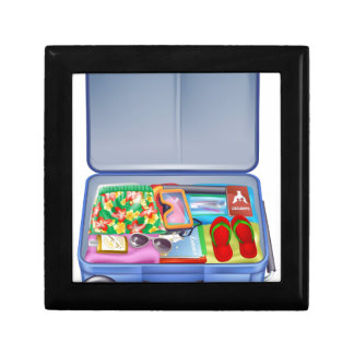 Full holiday vacation suitcase gift boxes