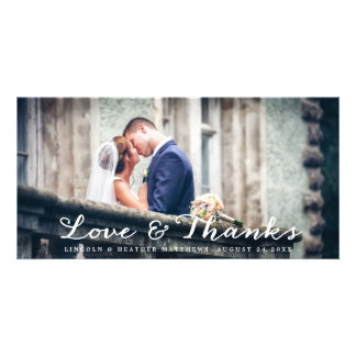 Full Horizontal Wedding Thank You Photo Card