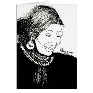 Full image of Indian Lady note card