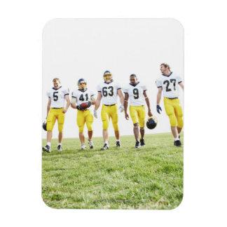 Full length portrait of rugby team rectangular photo magnet