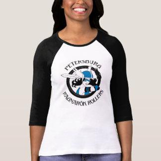 Full Logo 3/4 Sleeve Raglan Black Sleeve Tee Shirt