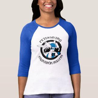 Full Logo 3/4 Sleeve Raglan Blue Sleeve T Shirt