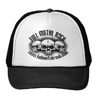 Full Metal Rock Black Logo Mesh Hats