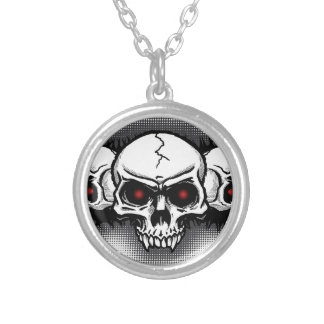 Full Metal Rock Skulls Personalized Necklace