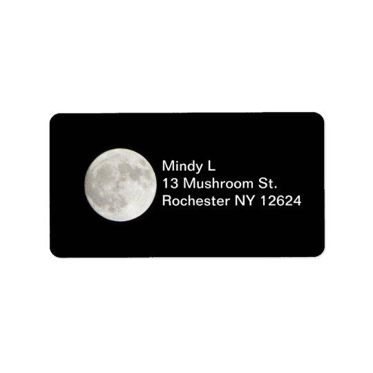 Full Moon Address Label