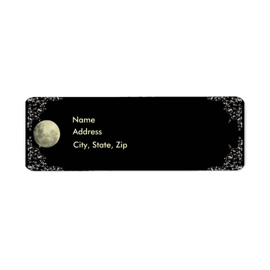 Full Moon Address Labels Template
