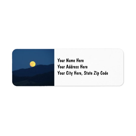 Full Moon Address Name Labels custom