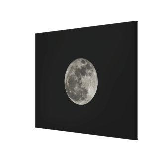 Full moon against night sky canvas print