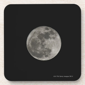Full moon against night sky coaster