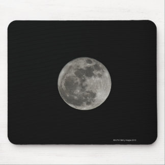 Full moon against night sky mouse pad