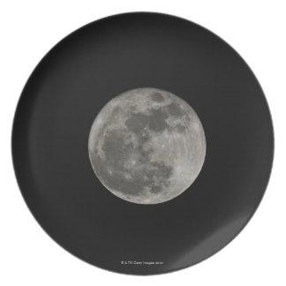 Full moon against night sky plate