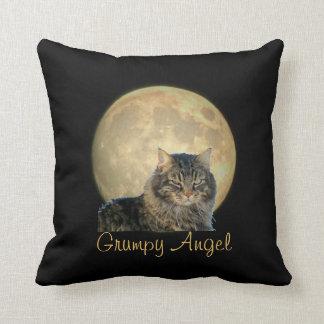 Full Moon and a Grumpy Angel Throw Cushions