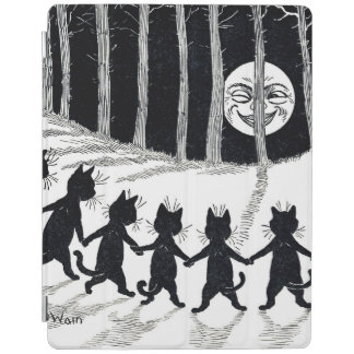 Full moon and Cats, Louis Wain iPad Cover