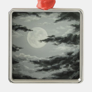 Full Moon and Cloudy Night Sky Ornament
