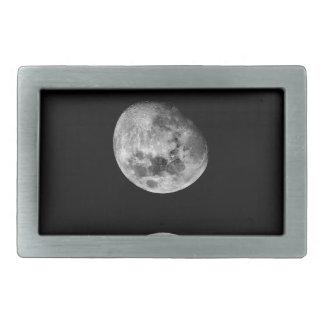 Full moon and crescent moon rectangular belt buckle