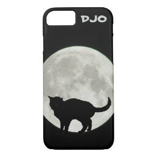 Full Moon Arching Black Cat iPhone 7 Case